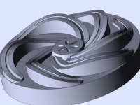 Plastic bra underwire - prototype tooling layout
