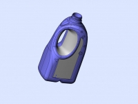 CAD of 2L bottle design for Client
